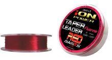 FLUORINE RED TAPER LEADERS 15m x 5 leaders 10 spools pack